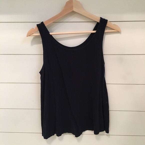 b80c42e4a4d crown and ivy Tops   Crown Ivy Navy Swing Tank   Poshmark